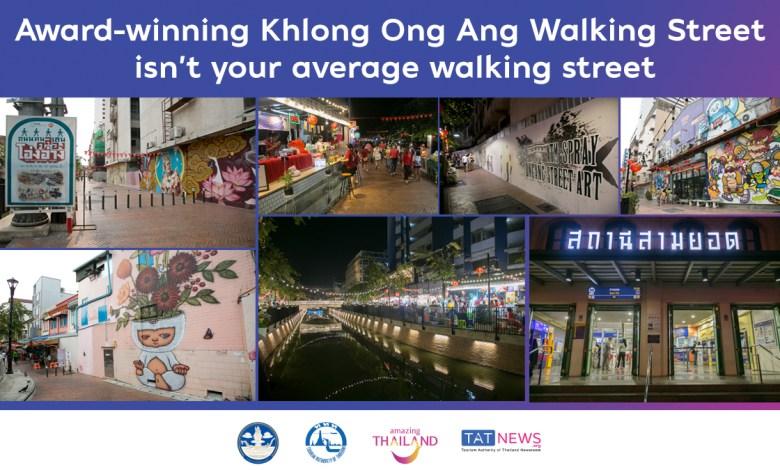 Thailand : Award-winning Khlong Ong Ang Walking Street isn't your average walking street