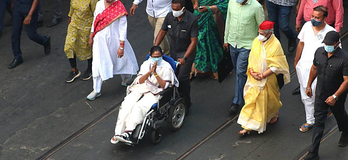 West Bengal Election 2021: Mamata Banerjee Roadshow in Kolkata