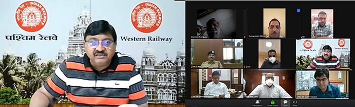 पश्चिम रेलवे के महाप्रबंधक ने कोविड-19 संबंधी महत्वपूर्ण मुद्दों पर मीडिया प्रतिनिधियों से की चर्चा