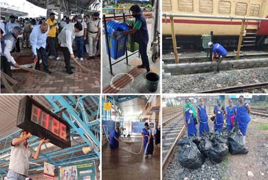 पश्चिम रेलवे पर मनाया जा रहा है स्वच्छता पखवाड़ा