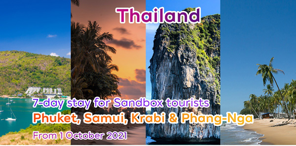 Thailand# Now 7-day stay for Sandbox tourists from any country in the world